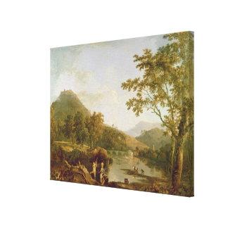 Salvado del Dinas de Llangollen, 1770-71 (aceite e Impresión En Lienzo