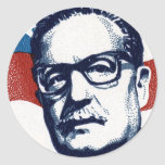 Salvador Allende - Venceremos Pegatina Redonda