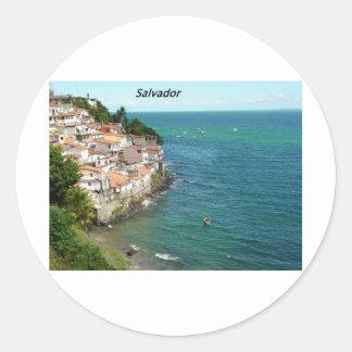salvador-brazil-[kan.k].JPG Classic Round Sticker