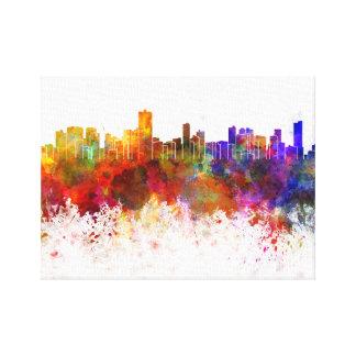 Salvador de Bahia skyline in watercolor background Canvas Print