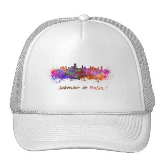 Salvador de Bahia skyline in watercolor Trucker Hat
