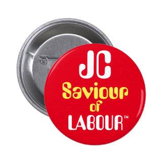 """Salvador de JC de Jeremy Corbyn """"de la insignia Pin Redondo De 2 Pulgadas"""