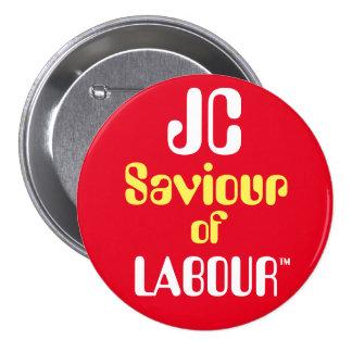 """Salvador de JC de Jeremy Corbyn """"de la insignia Pin Redondo De 3 Pulgadas"""