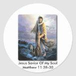 Salvador de Jesús de mi alma Etiquetas Redondas