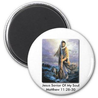 Salvador de Jesús de mi alma Imán Redondo 5 Cm