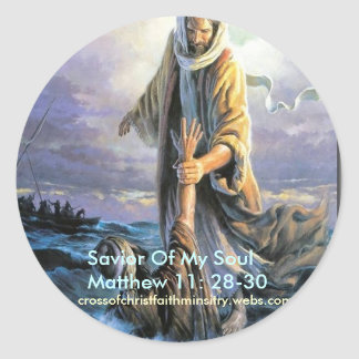 Salvador de Jesús de mi alma Pegatina Redonda