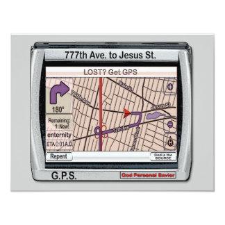 """Salvador personal de dios de GPS Invitación 4.25"""" X 5.5"""""""