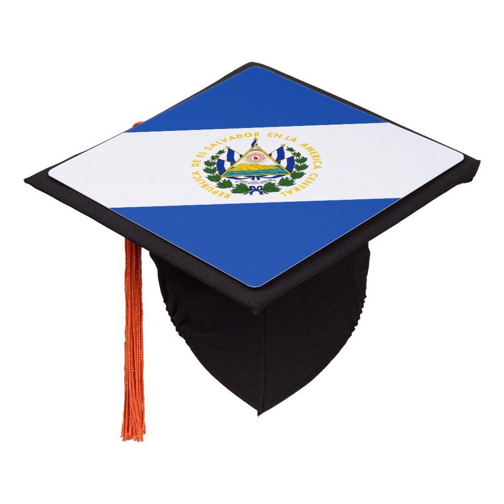 Salvadoran flag graduation cap topper