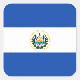 Salvadoran Flag Square Sticker