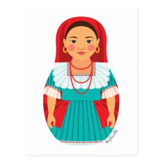 Salvadoran Matryoshka Postcard