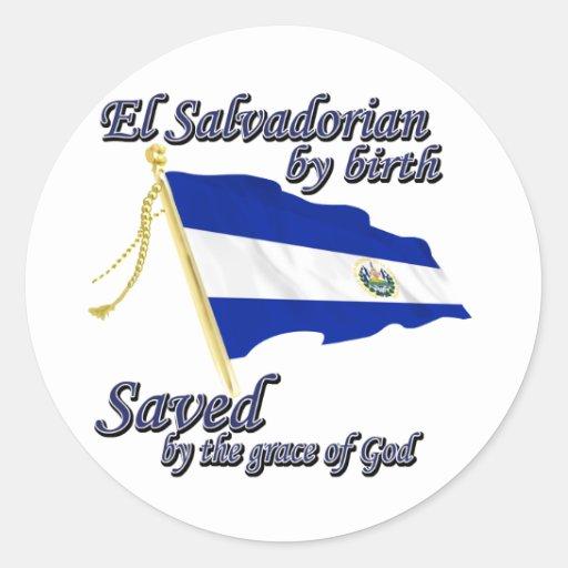 Salvadoreño por el nacimiento ahorrado por la grac pegatinas