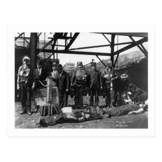 Salvadores de la mina de carbón, 1910 tarjetas postales
