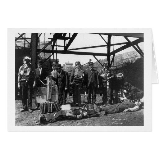 Salvadores de la mina de carbón, 1910 tarjeton
