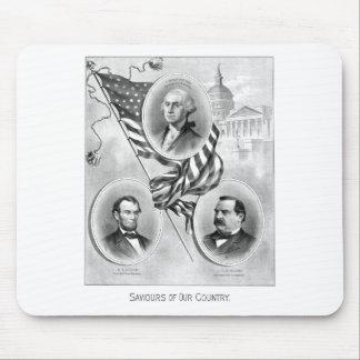 Salvadores de nuestro país -- Historia americana Alfombrillas De Raton