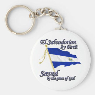 Salvadorian by birth saved by the grace of God Basic Round Button Keychain