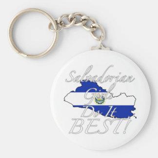Salvadorian Girls Do It Best! Basic Round Button Keychain