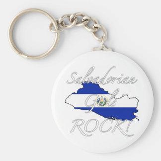 Salvadorian Girls Rock! Basic Round Button Keychain