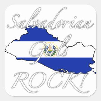 Salvadorian Girls Rock! Square Sticker