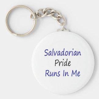 Salvadorian Pride Runs In Me Basic Round Button Keychain