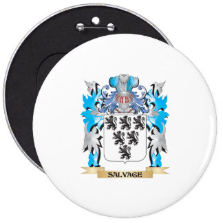 Salvage Coat of Arms - Family Crest 6 Inch Round Button