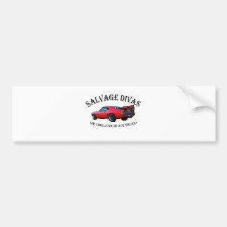 Salvage Divas Bumper Stickers
