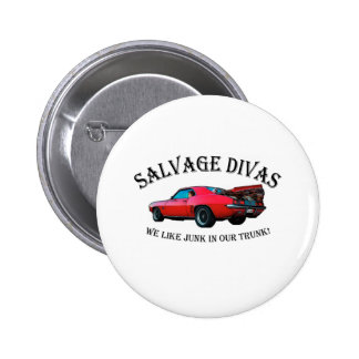Salvage Divas Buttons