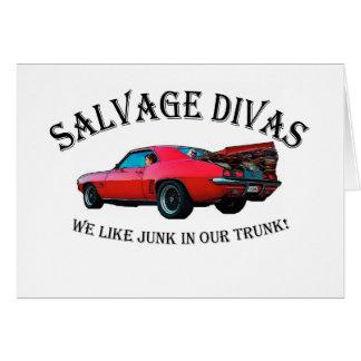 Salvage Divas Cards