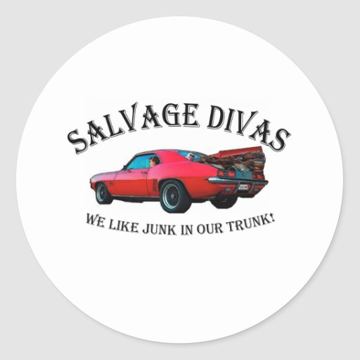Salvage Divas Junk in the trunk Stickers