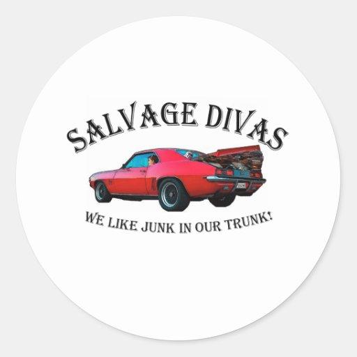Salvage Divas Sticker