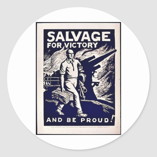 Salvage For Victory Sticker