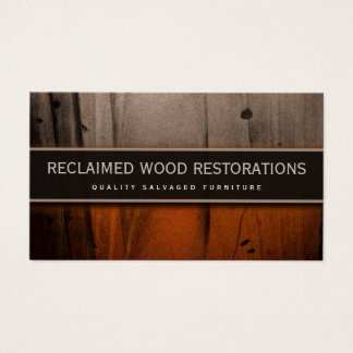 Salvage Furniture Restoration Wood Business Card