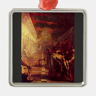 Salvage of the corpse of St. Mark by Tintoretto Christmas Ornaments