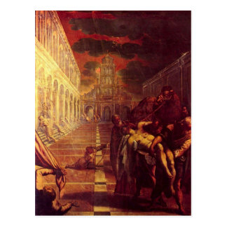 Salvage of the corpse of St. Mark by Tintoretto Postcard