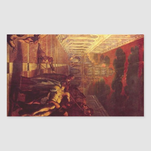 Salvage of the corpse of St. Mark by Tintoretto Stickers