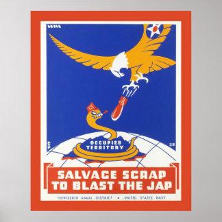 Salvage scrap, American war propaganda Poster