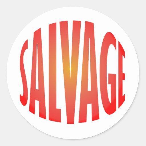 salvage round stickers