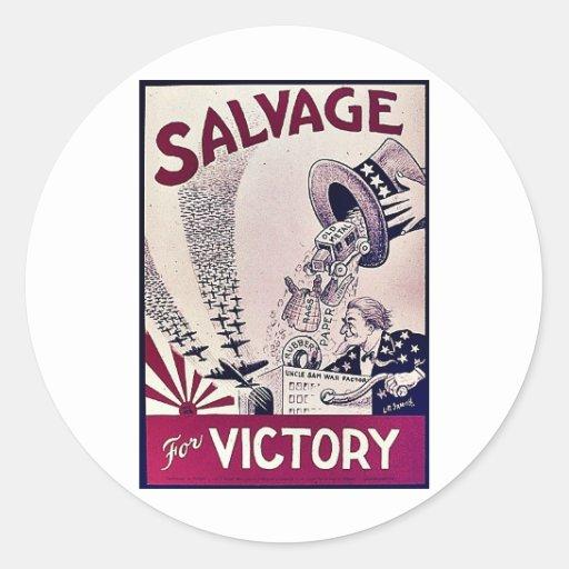 Salvage Round Sticker