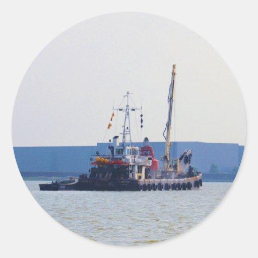 Salvage Vessel Hookness Round Stickers