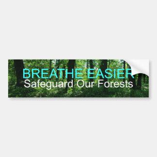Salvaguarde nuestros bosques pegatina para auto