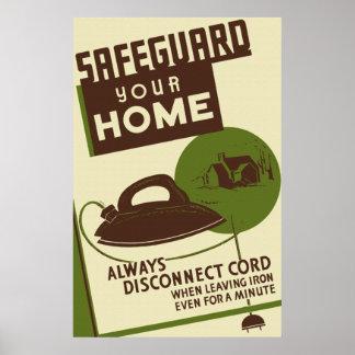 Salvaguarde su poster casero