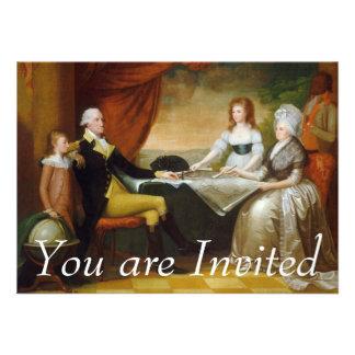 Salvaje de Edward la familia de Washington Invitaciones Personalizada
