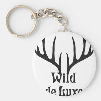 salvaje de luxe stag antler night deer llavero personalizado