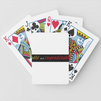 Salvaje e imprevisible baraja cartas de poker