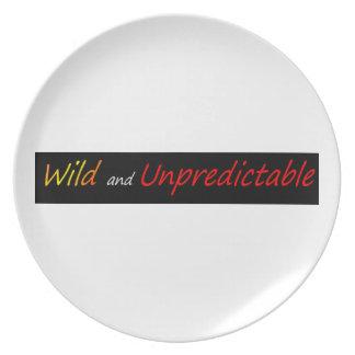 Salvaje e imprevisible platos para fiestas