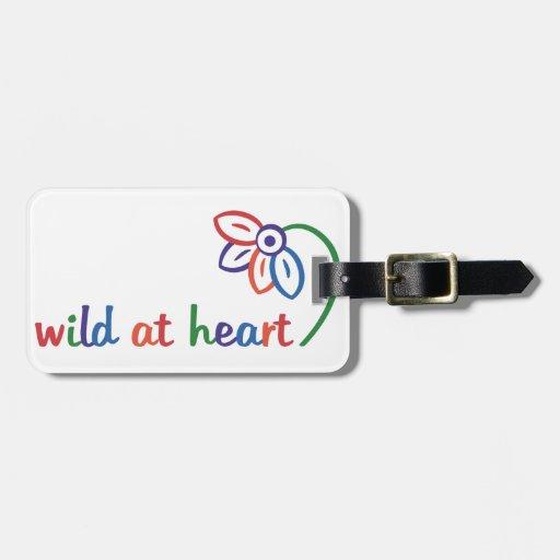 Salvaje en el corazón etiquetas para maletas