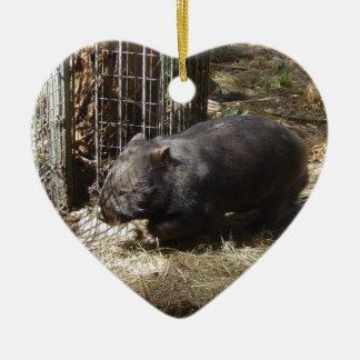 Salvaje para Wombats Adorno Navideño De Cerámica En Forma De Corazón