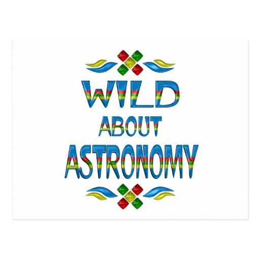 Salvaje sobre astronomía postal