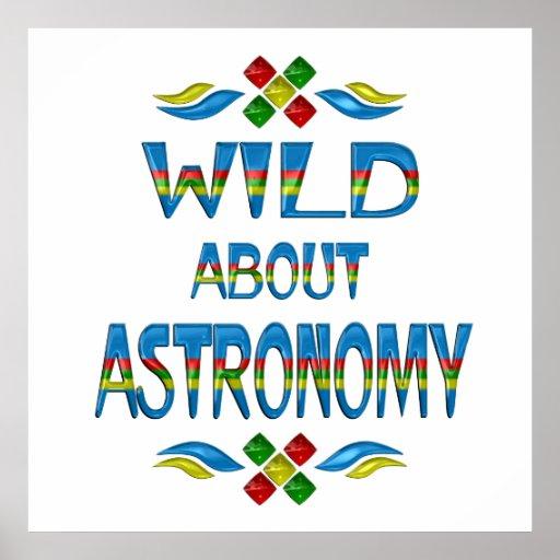 Salvaje sobre astronomía póster