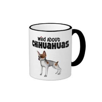 salvaje sobre chihuahua tazas de café