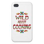 Salvaje sobre cocinar iPhone 4 funda